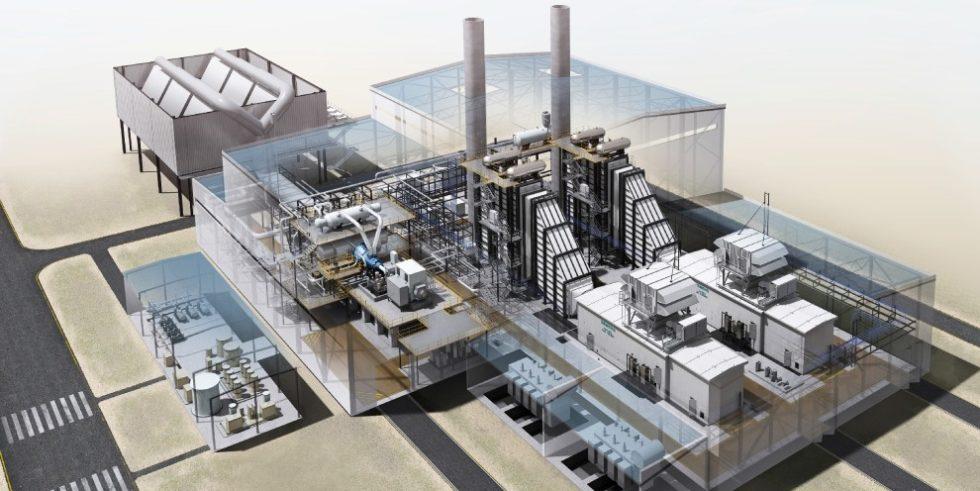 Ein hocheffizientes, neues GuD-Kraftwerk (hier als Modell) soll zukünftig die Energieversorgung im Chemiepark Marl sichern. Foto: Siemens