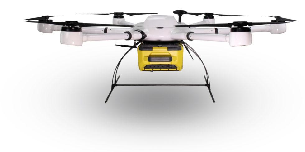 Drohne mit Messtechnik