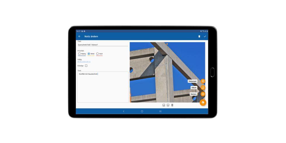In der Pro-Version können Bilder und Grafiken eingefügt und bearbeitet werden. Foto: FRILO Software GmbH