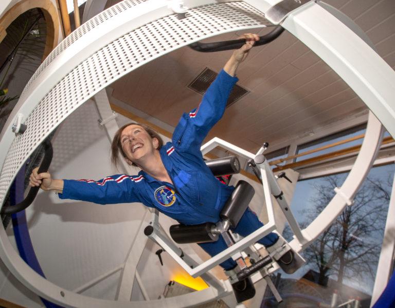 Suzanna Randall im Astronautentraining. Foto: Die Astronautin