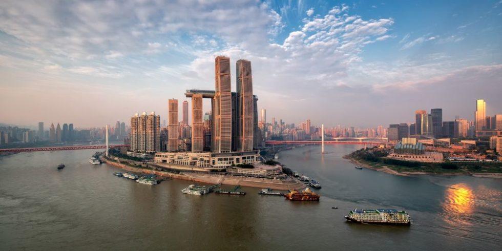 Raffles City Chongqing Luftperspektive