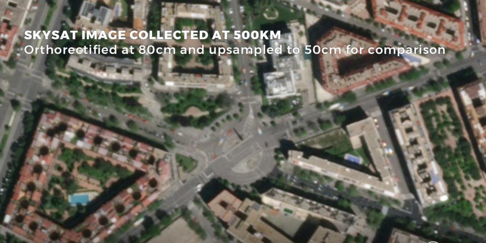 Madrid vom All aus. Satellitenbild Planet