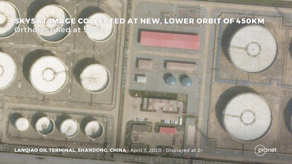 So sieht ein Öl-Terminal in China von Oben aus.