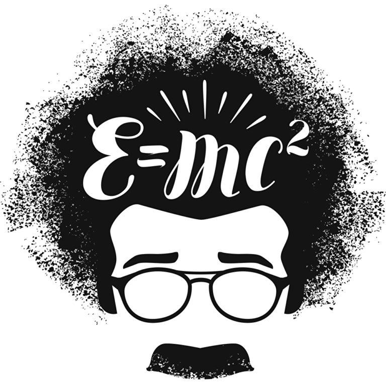 Albert Einstein Formel im Kopf