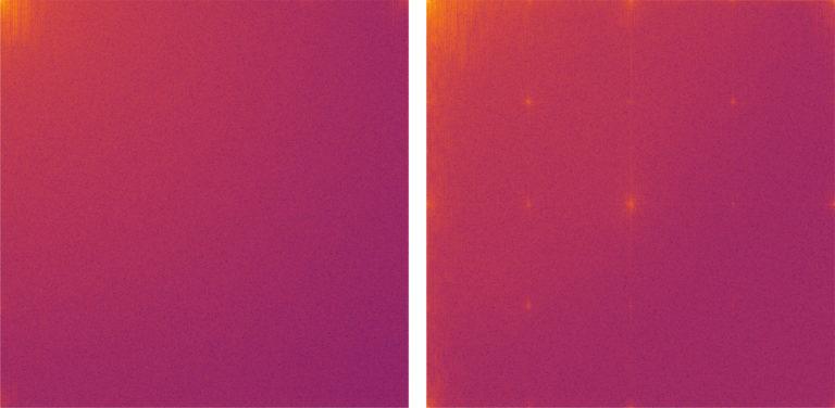 Originalbild (links) und Deep Fake (rechts) nach der Analyse.<br />Foto: RUB, Lehrstuhl für Systemsicherheit