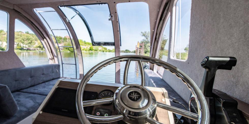Wohnwagen-Boot von innen
