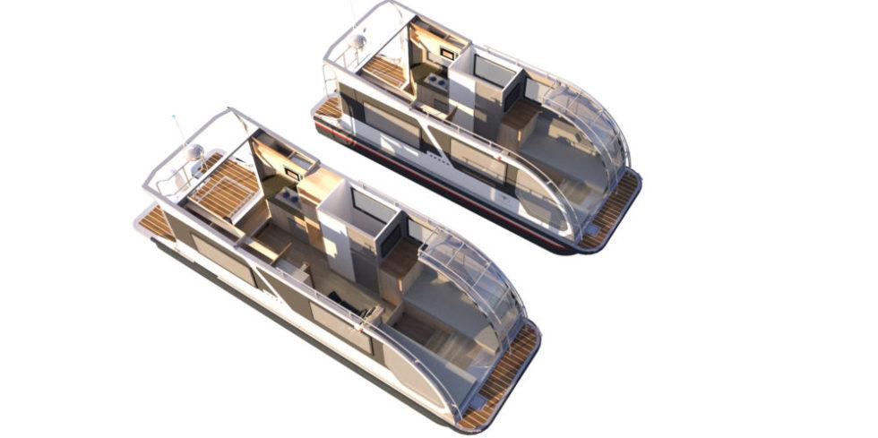 Wohnwagen-Boot in zwei Größen