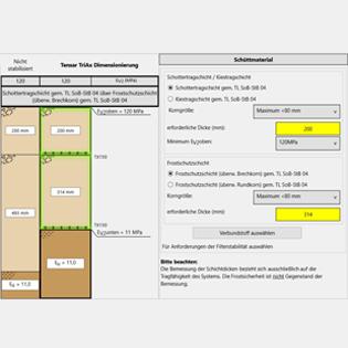 Die kostenfreie Software TensarPave-GMC