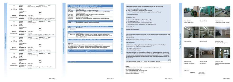 Damit werden auch ausführliche Berichte erstellt und im PDF-Format an alle Beteiligten verteilt. Foto: Brandschutz 2000 Consulting