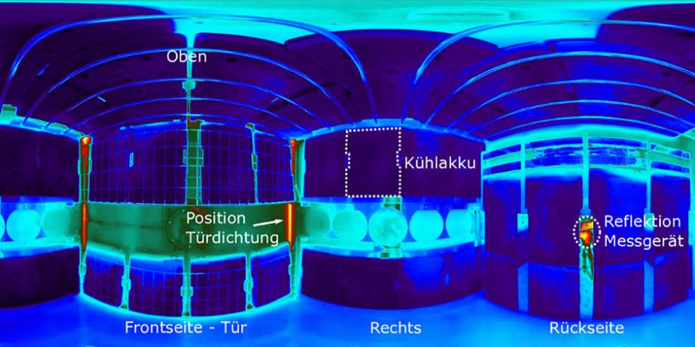 Thermografie-Aufnahme