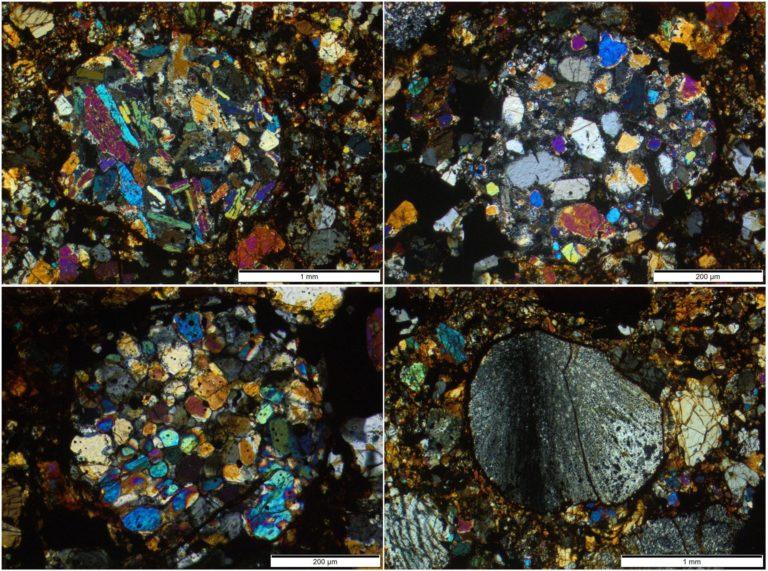 So sehen die Proben unter dem Polarisationsmikroskop aus. Foto: Addi Bischoff