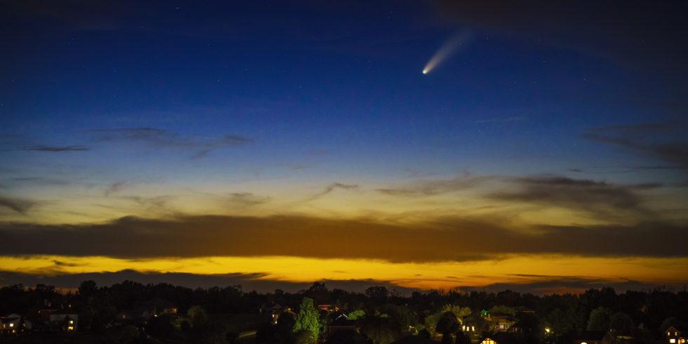 Licht blau dynamisch raum himmel schön im freien natur