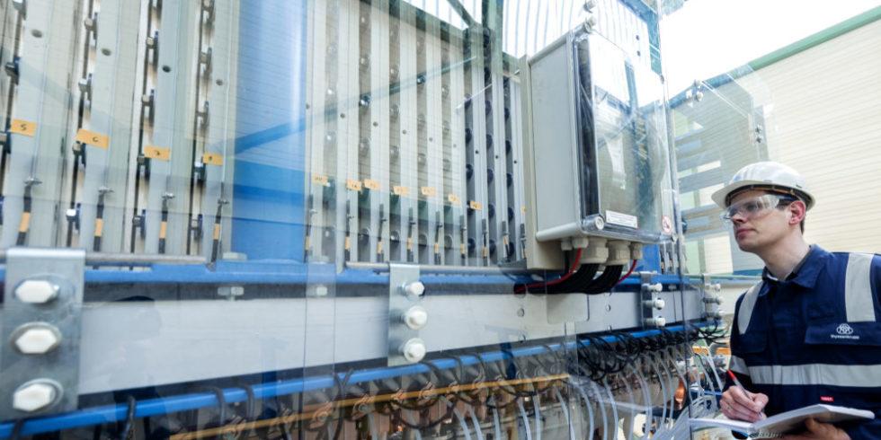 Wasserelektrolyse-Anlage