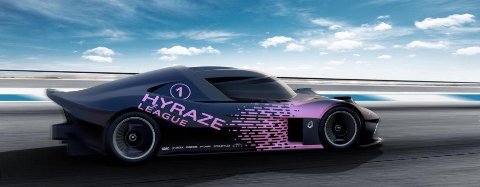 Rennwagen der neuen HYRAZE League