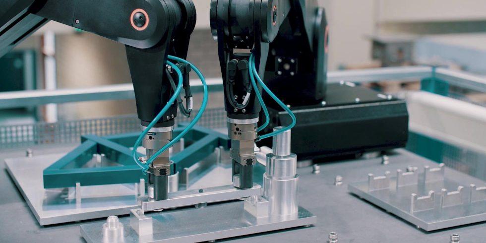 Mehr Flexibilität bei der Produktion. Wie das gehen könnte, zeigen Ingenieure am KIT. Foto: wbk/KIT