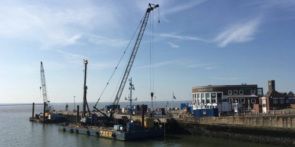Bis Mitte 2020 wird der Helgolandkai einer umfassenden Instandsetzung unterzogen. Foto: WKC