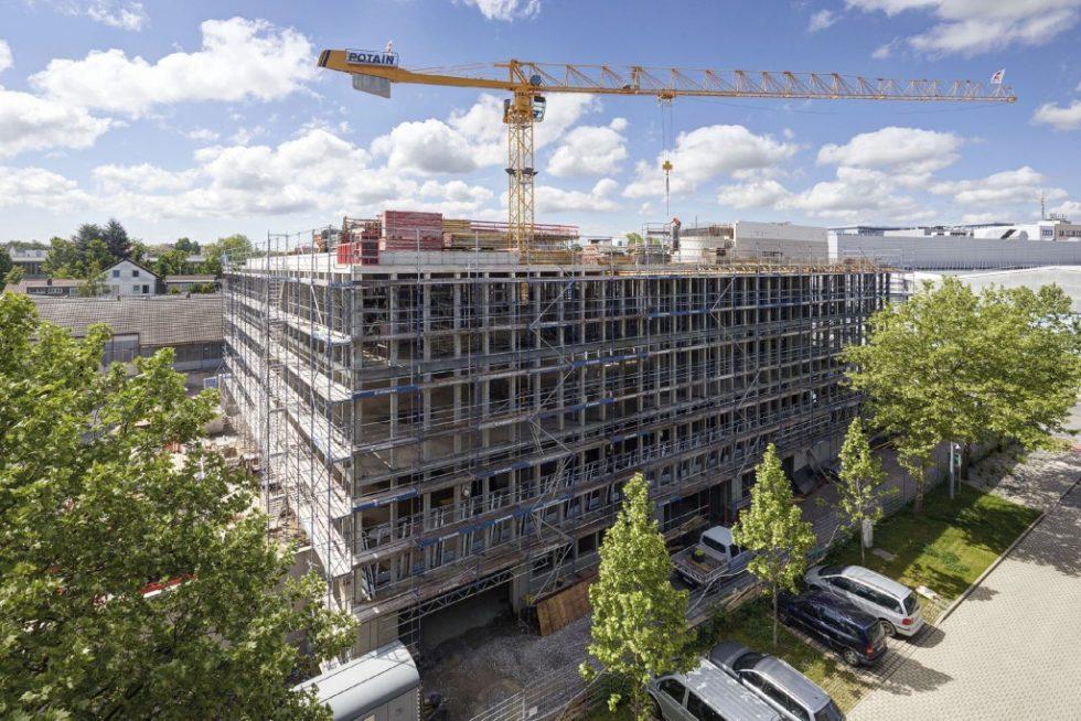 Das neue Bürogebäude wird von der Projektentwicklungsgesellschaft DQuadrat Real Estate und Wolf & Müller gemeinsam durch BIM und Lean realisiert. Foto: Swen Carlin