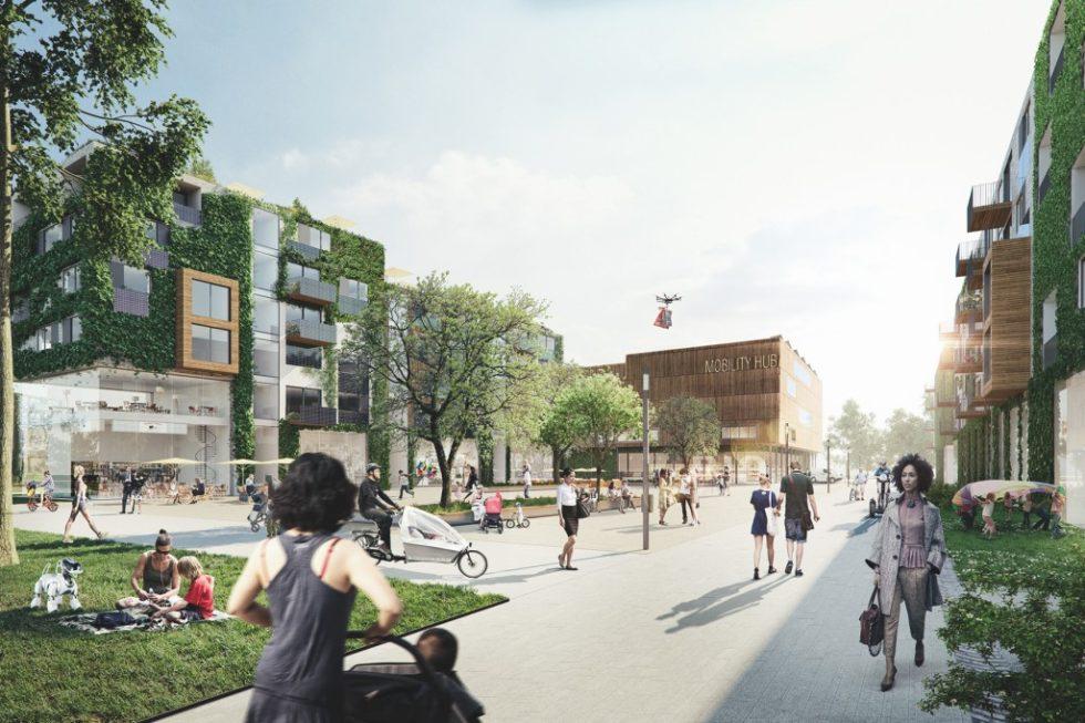 Das Schumacher Quartier soll zeigen, ob sich Holzbau im Städtebau lohnt. Foto: Tegel Projekt/rendertaxi