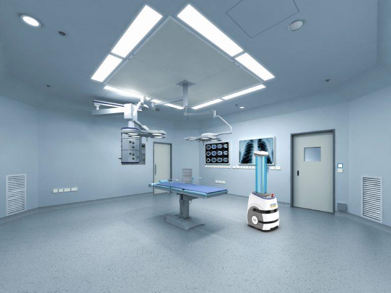 Patientenzimmer und Behandlungsräume desinfiziert der Roboter mithilde von UV-C-Strahlung laut Hersteller in Minuten. Foto: ICA Traffic