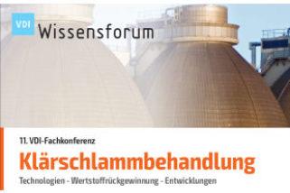 VDI-Fachkonferenz Klärschlammbehandlung