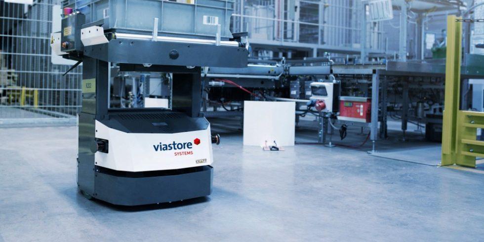 Sicherheit und Autonomie von Fahrerlosen Transportsystemen stellen hohe Anforderungen an die eingesetzte Sensorik. Foto: viastore