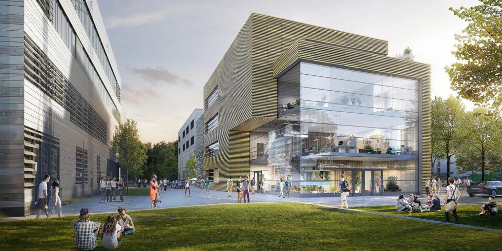 Visualisierung des geplanten Zentrums ZDD