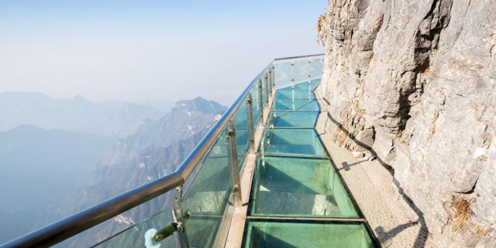 Gläsener Skywalk in China