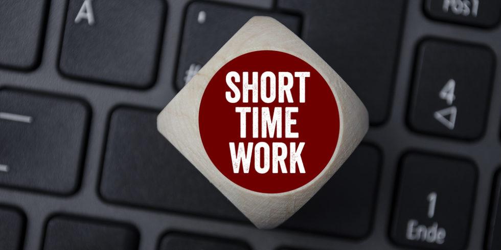 Taste Short Time Work auf Tastatur