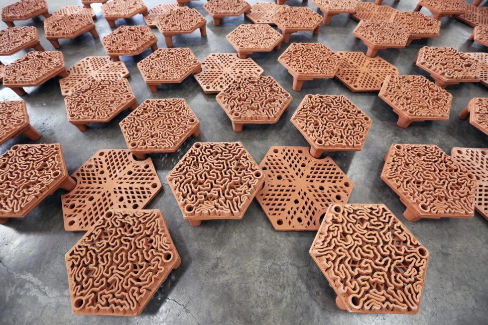 3D-gedruckten Rifffliesen