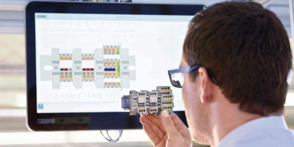 Der Digitale Zwilling eines Industrieprodukts führt die Historie des Engineerings und der Nutzung mit sich und präsentiert als Status den aktuellen Zustand. Foto: Phoenix Contact