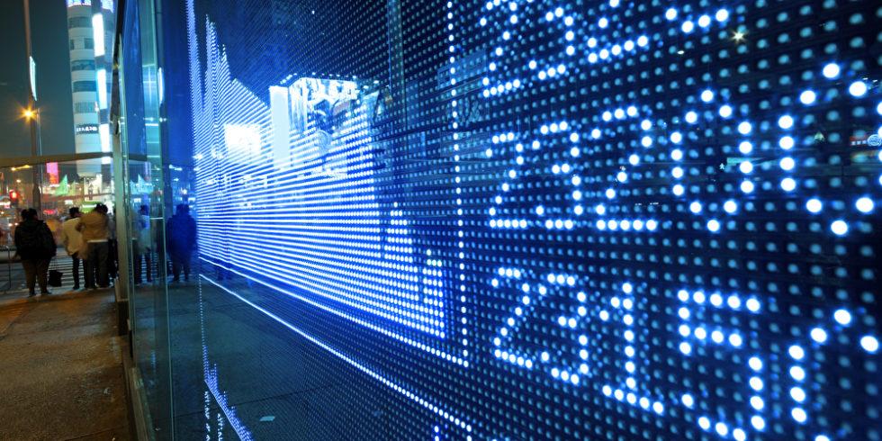 Börse Zahlen auf Display