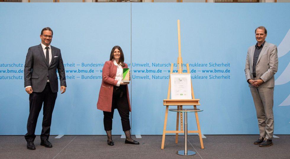 In der Kategorie Quartiere hat die Jury das Quartier WIR in Berlin als Sieger ausgewählt. Foto: BMU/Sascha Hilgers