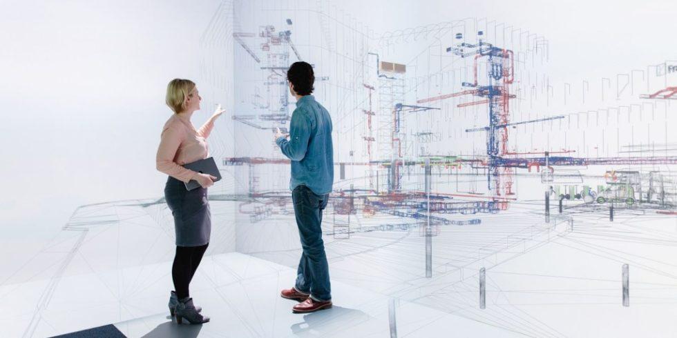 Mit einem neuen Tool werden Gebäude virtuell begehbar. Foto: Ludmilla Parsyak/ Fraunhofer IAO