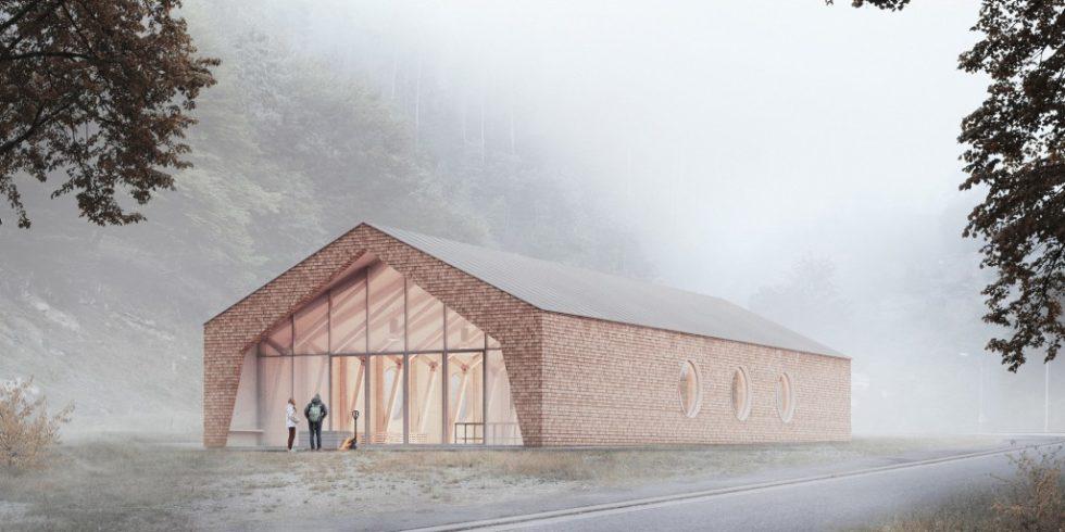 Der prägende Baustoff des TLab der TU Kaiserslautern ist Holz. Foto: Nicolai Becker Images
