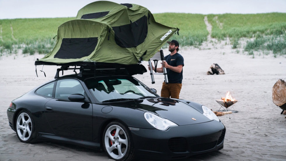 Porsche Zeltaufbau