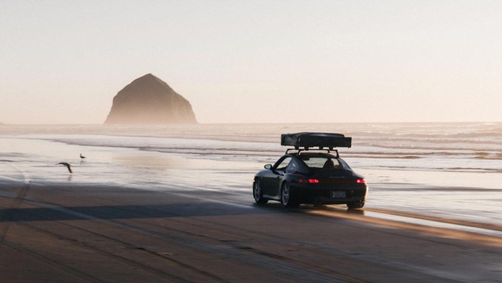 Porsche am Strand