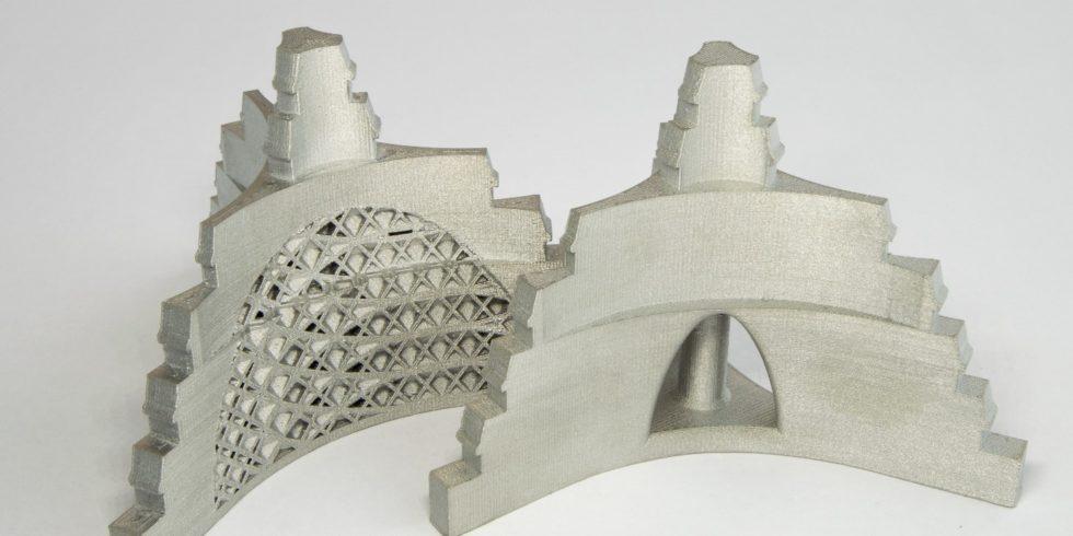 Der 3D-gedruckte Werkstückträger aus Metallfilament von BASF Forward AM. Foto: Multec GmbH