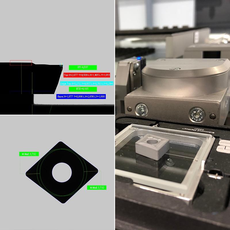 Prüfungen in der RPS Compact: Höhenvermessung (oben), Geometrievermessung (unten). Foto: ROBOWORKER