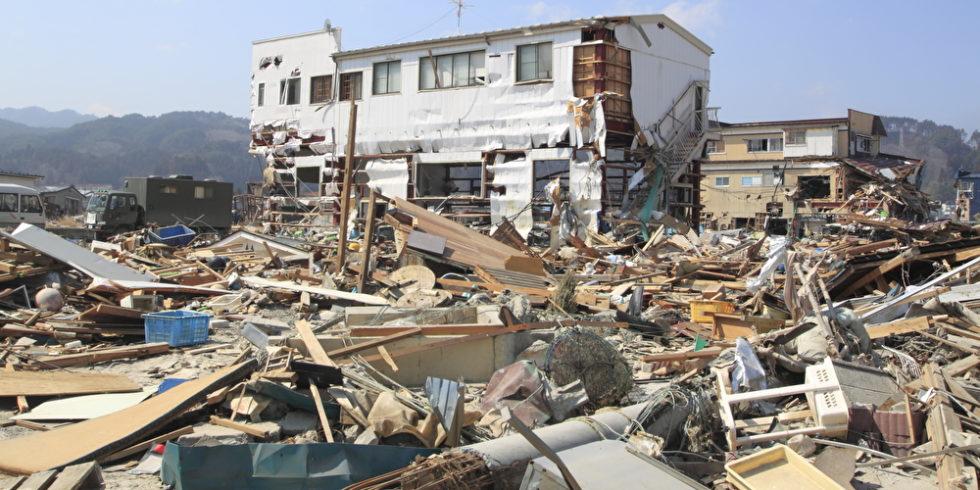 Erdbeben im japanischen Iwate, 2008. Mit modernen Radar-Technologien lassen sich Überlebende schneller finden. Foto: Panthermedia.net/yoshiyayo
