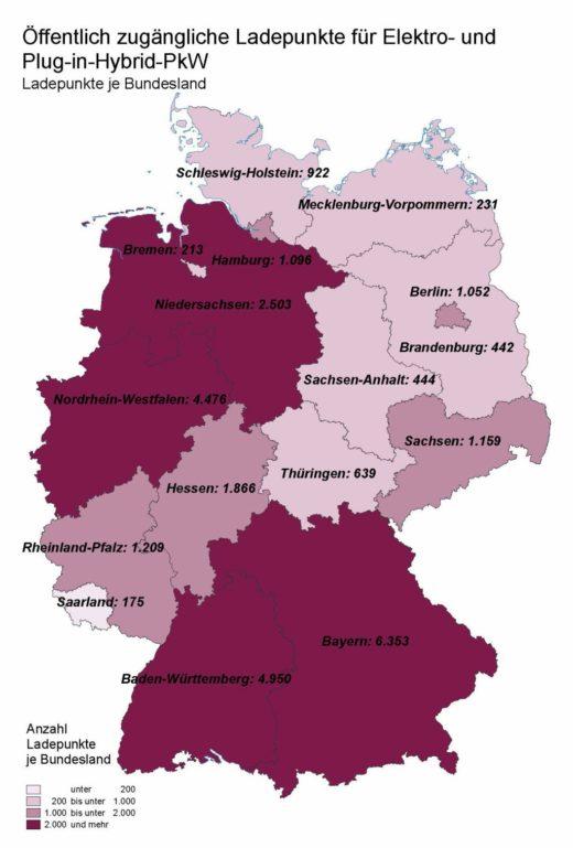 Grafik: LUTUM+TAPPERT (Bonn) auf Basis der Daten von www.ladesaeulenregister.de, Stand 24.04.2020.