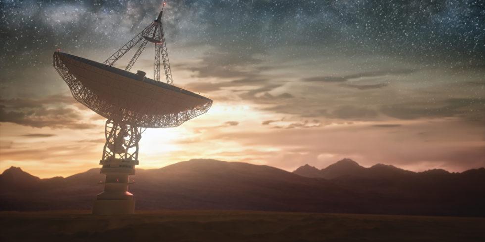 Geheiminsvolle Signale aus dem Weltall: Fast Radio Bursts - oder Blitzare - stellen Forscher seit einigen Jahren vor Rätsel. Foto: panthermedia.net/ktdesign
