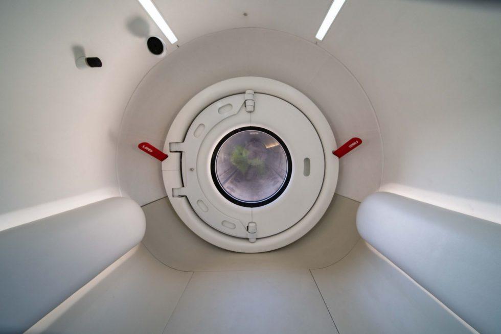 Hyperloop von Innen