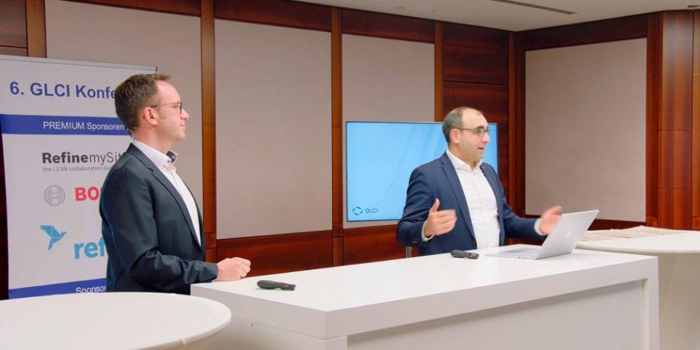 Die 6. GLCI Konferenz eröffenten im virtuellen Raum Vorstandsvorsitzende Prof. Dr. Shervin Haghsheno (rechts) und  Geschäftsführer Thomas Bär (links). Foto: VDI Fachmedien