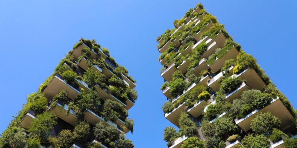 Begrünte Hochhäuser in Mailand, Italien. Quelle: PantherMedia, Sergio Monti