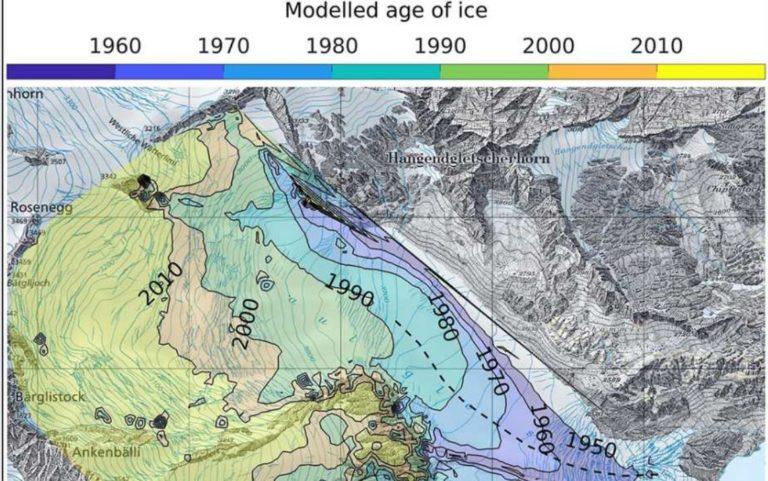 Die neue Karte ist auch für künftige Forschungen wertvoll. Foto: Bundesamt für Landestopographie / Jouvet et al.