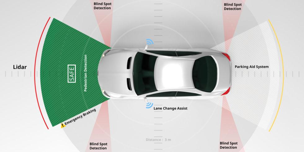Auto mit Lidar-Sensoren