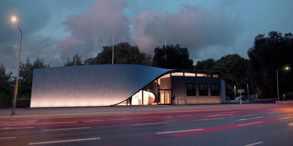 Das Cube Haus in Dresden gehört zu den weltweit größten Forschungsprojekten im Bauwesen. Foto: TU Dresden