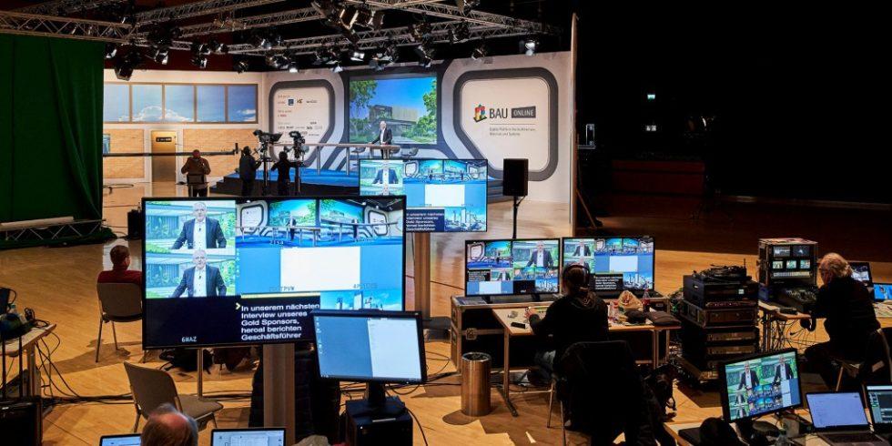 Die Weltleitmesse BAU findet dieses Jahr digital statt und sendet unter anderem live aus München. Foto: Messe München GmbH