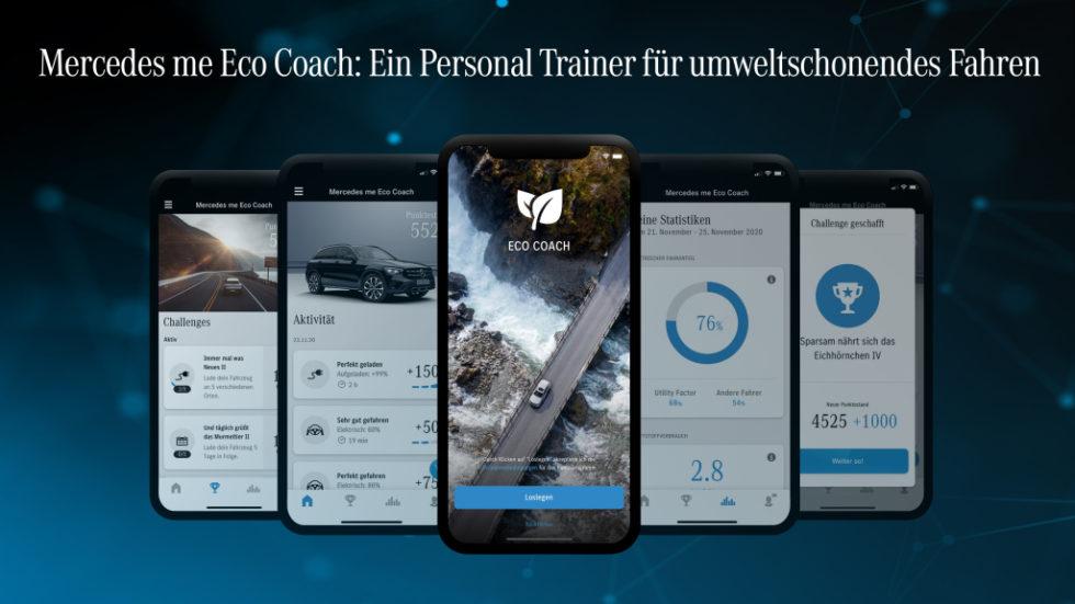 Die neue App Mercedes Me Eco Coach