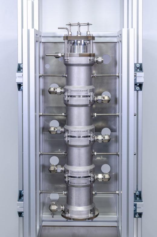 Pilotanlage zur Grignard-Reagenzsynthese mit bis zu 20 Litern Durchsatz pro Stunde.<br />Foto: Fraunhofer IMM